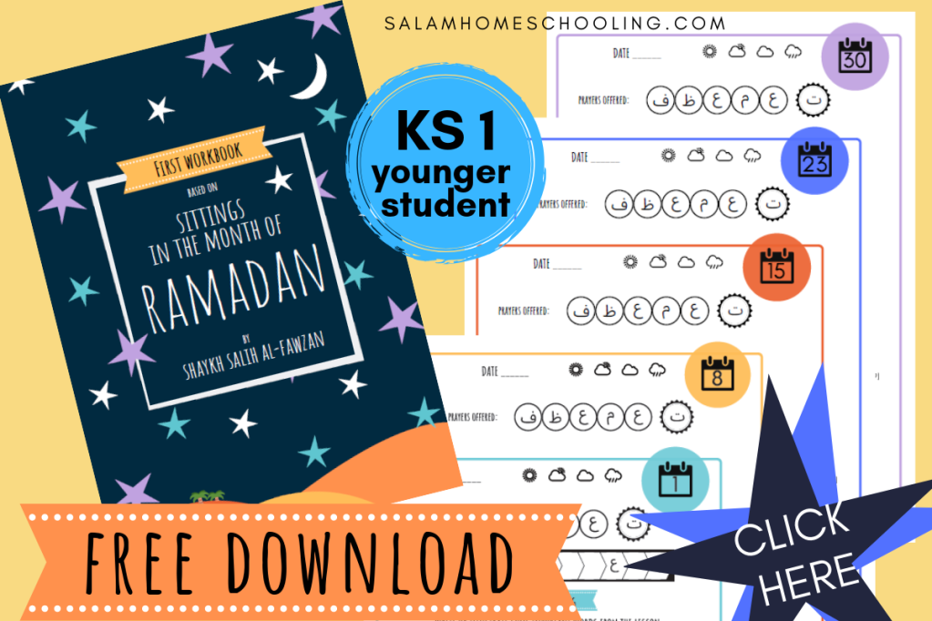 Free Ramadan activity primary school homeschool kids printable